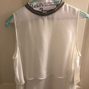 Zara Top with Embellished Neckline